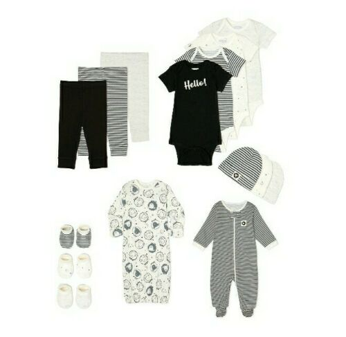 Garanimals Layette Organic Cotton Neutral Colors 15 pieces Gift Set 3-6 Months