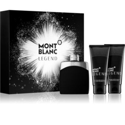 Mont Blanc Legend 3pc Gift Set for Men 3.3 Oz Cologne, Aftershave & Shower Gel