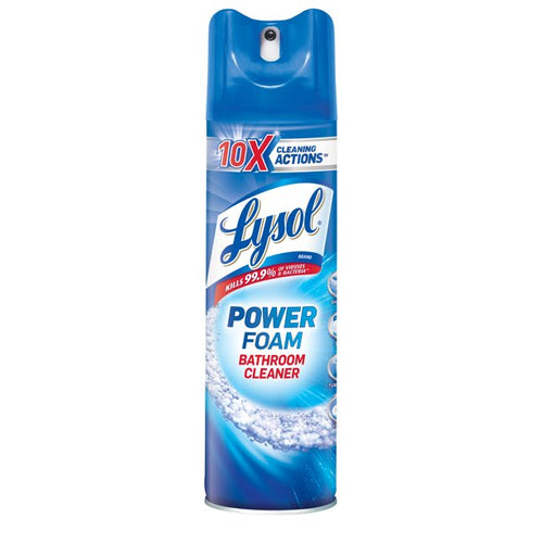 Lysol Bathroom Cleaner Spray, Power Foam, 24oz