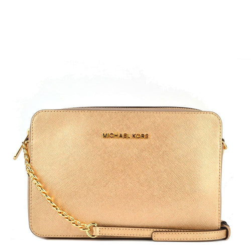 Michael Kors Jet Set Item LG Crossbody Leather Gold (35T8MTTC3M)