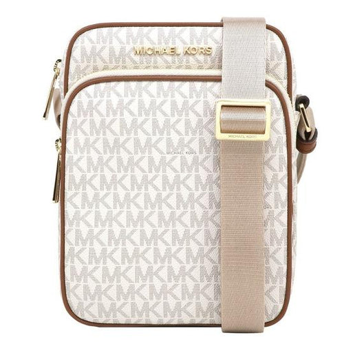 Michael Kors Jet Set Travel Medium Flight Pvc Crossbody Bag Vanilla (35H9GTVC1B)