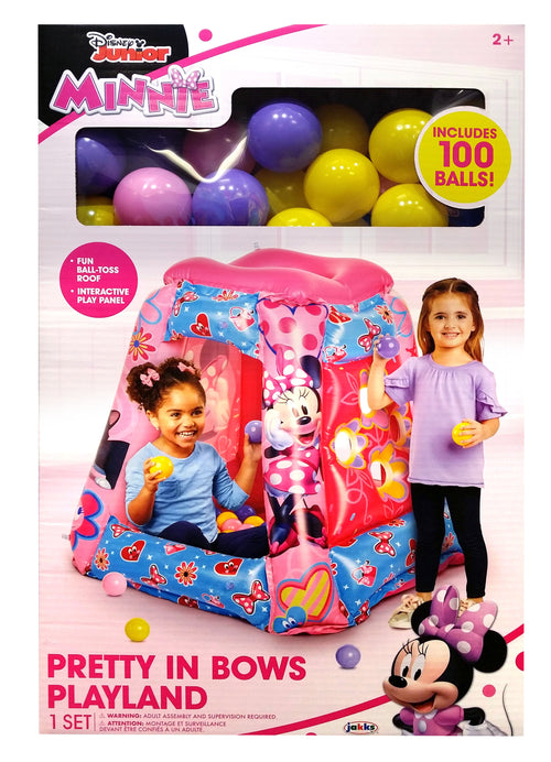 Disney Minnie Mouse Inflatable Playland, includes 100 Soft Flex Balls