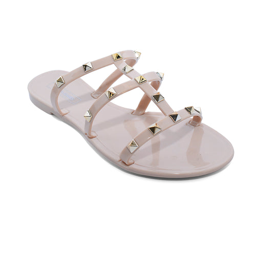 Victoria Adames Key West Jelly Sandals Nude