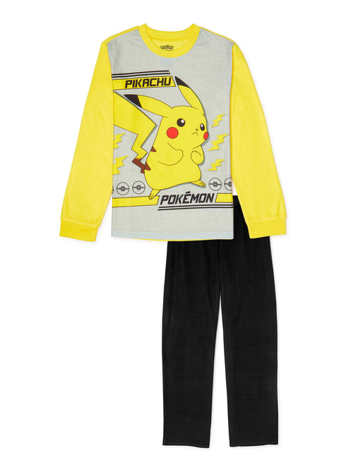 Pokemon Boys Pajama Set, 2-Piece, Size 10-12
