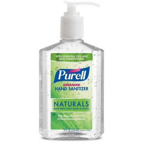PURELL Advanced Hand Sanitizer Naturals with Plant Based Alcohol Pump Bottle  8 fl oz