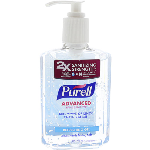 Purell Advanced Instant Hand Sanitizer Gel 8 oz Refreshing Gel