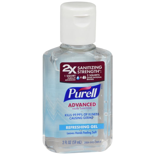 Purell Advanced Hand Gel, 2 Ounce, 59 ml (Pack of 3)