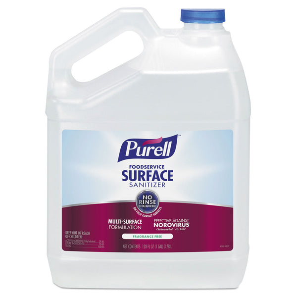 Purell Foodservice Surface Sanitizer, Fragrance Free, 1 Gallon