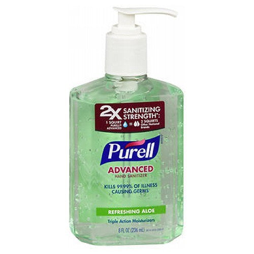 Purell Hand Sanitizer Soothing Gel with Triple Action Moisturizers  8 oz