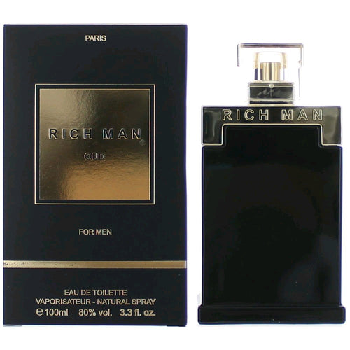 Rich Man Oud by Paris Bleu, 3.4 oz 100 ml EDT Spray Men