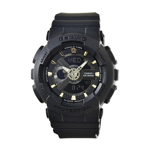 Casio Baby‑G Black Digital Analog Watch BA110GA‑1A