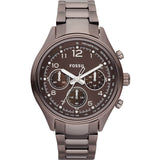 Fossil Flight Brown Chronograph Watch (CH2811) Women