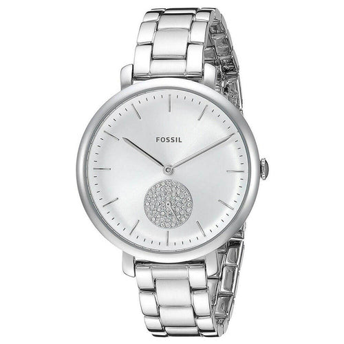 Fossil Jacqueline Three-Hand Stainless Steel Watch Jewelry (ES4437) Women