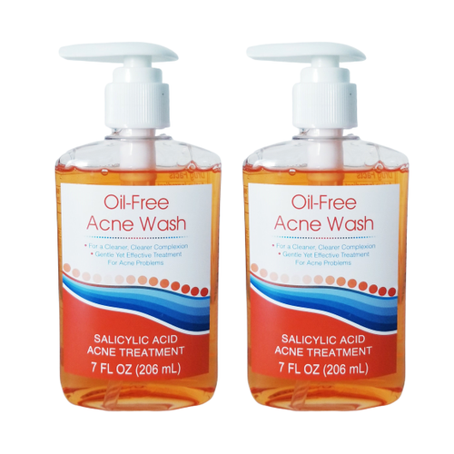 "Oil Free Acne Face Wash (Acne Treatment) 7 oz 206 ml ""2-PACK"""