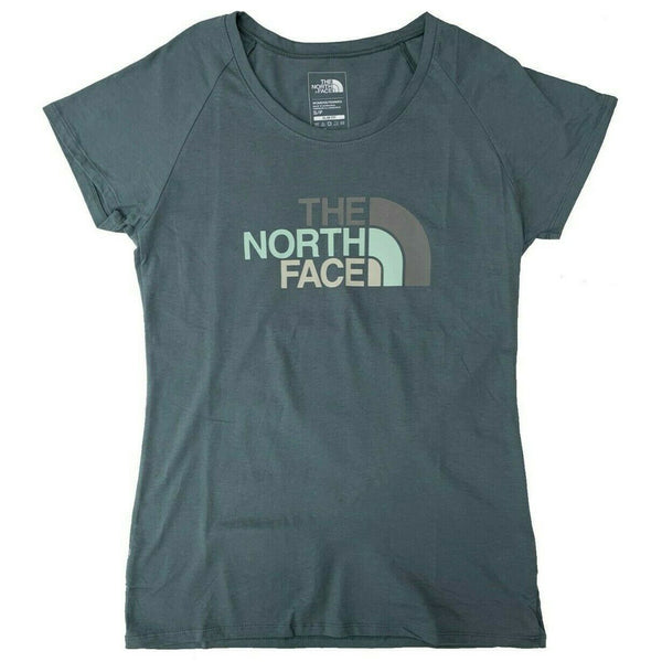 The North Face Women's Short Sleeve Scoop Neck Tee Green/Subtle Green multi