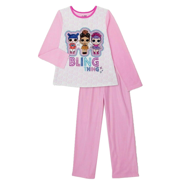 L.O.L. Bling Thing 2 piece Flannel Pajamas Sleepwear Set Size 7/8