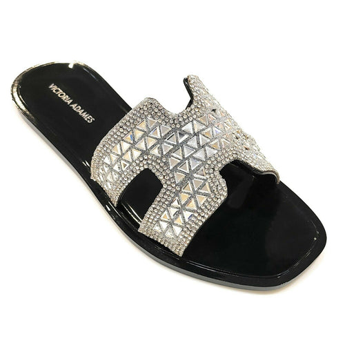 Victoria Adames Soho Jelly Sandals Black