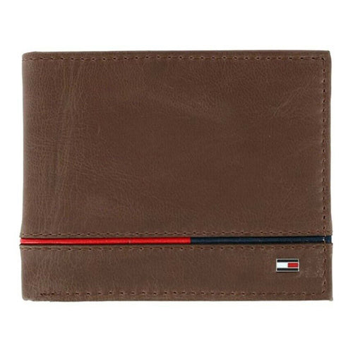 Tommy Hilfiger Men's Leather Leif RFID Bifold Wallet (31TL220134) Brown