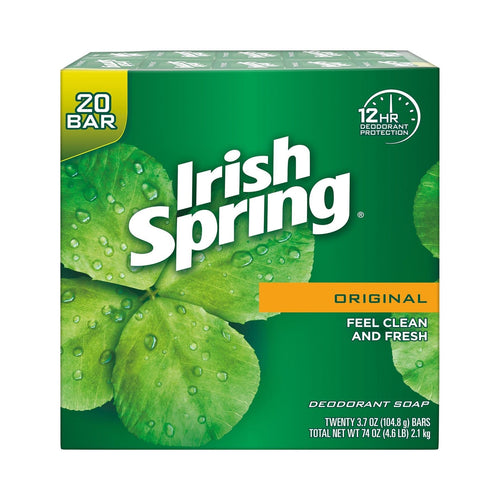 Irish Spring Deodorant Soap Original Scent 20 ct