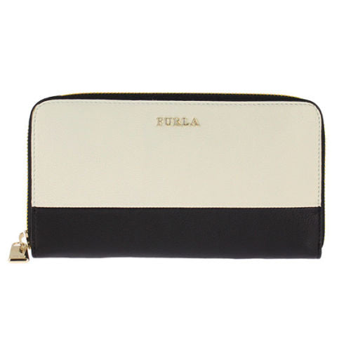 Furla PI54 Bobylon Xl Zip Around Banda Wallet Onix-Petalo (766472)