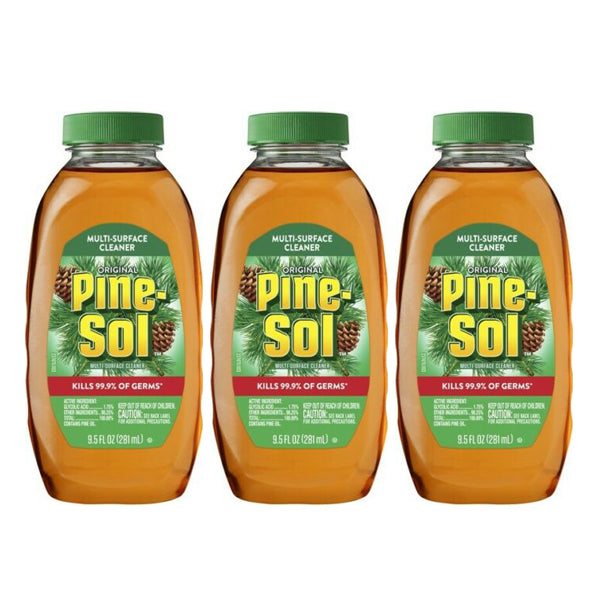 "Pine-Sol Original Disinfectant Multi-Surface Cleaner 9.5 oz ""3-PACK"""