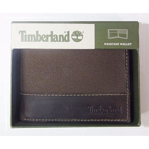Timberland Men's Baseline Canvas Wallet with Removable Passcase