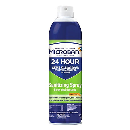 Microban Sanitizing Spray Citrus Scent 15 oz