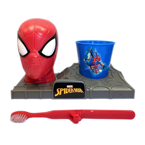 Spiderman Great Smile Toothbrush Set, Toothbrush Holder, Toothbrush & Rinse Cup