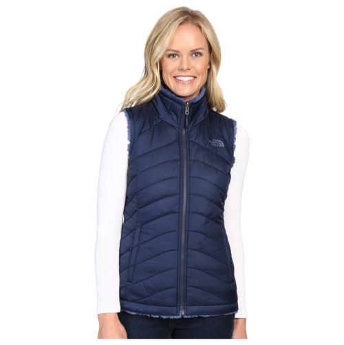 The North Face Women's Mossbud Swirl Reversible Vest Cosmic Blue LARGE