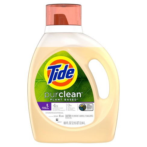 Tide Purclean Honey Lavender Liquid Laundry Detergent 69 fl oz