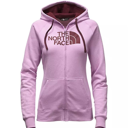 The North Face Women's Half Dome Full Zip Hoodie Lupine/Deep Garnet Red MEDIUM
