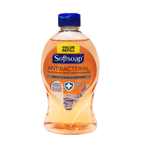 Softsoap Antibacterial Hand Soap with Moisturizers Crisp Clean 11.25 oz