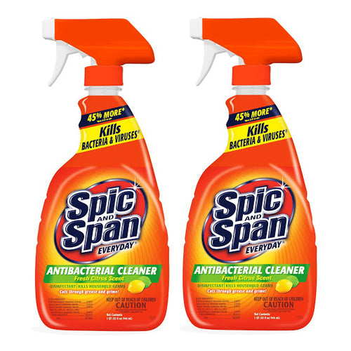 "Spic and Span Everyday Antibacterial Cleaner Fresh Citrus Scent  32 oz 946 ml ""2-PACK"""