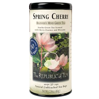 The Republic of Tea Spring Cherry Green 50 Bags