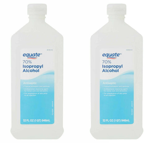 "Equate 70% Isopropyl Alcohol 32 oz ""2-PACK"""