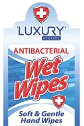 Luxury Hygiene Antibacterial Hand Sanitizer Wipes 40 Count