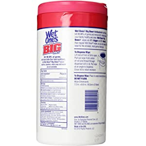 Wet Ones Big Ones Antibacterial Hand Wipes Fresh 65 Ct