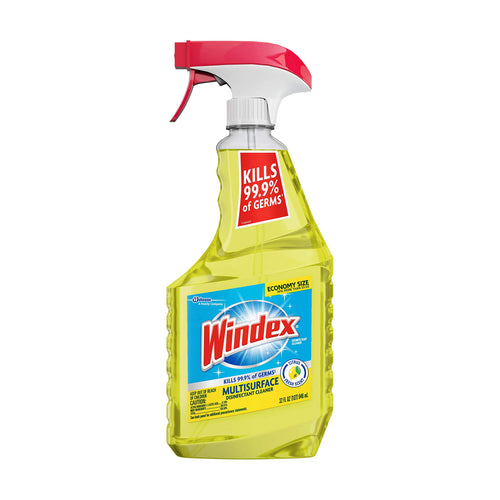 Windex MultiSurface Disinfectant Trigger Bottle Cleaner, Citrus, 32 oz (Kills 99.9% of germs)
