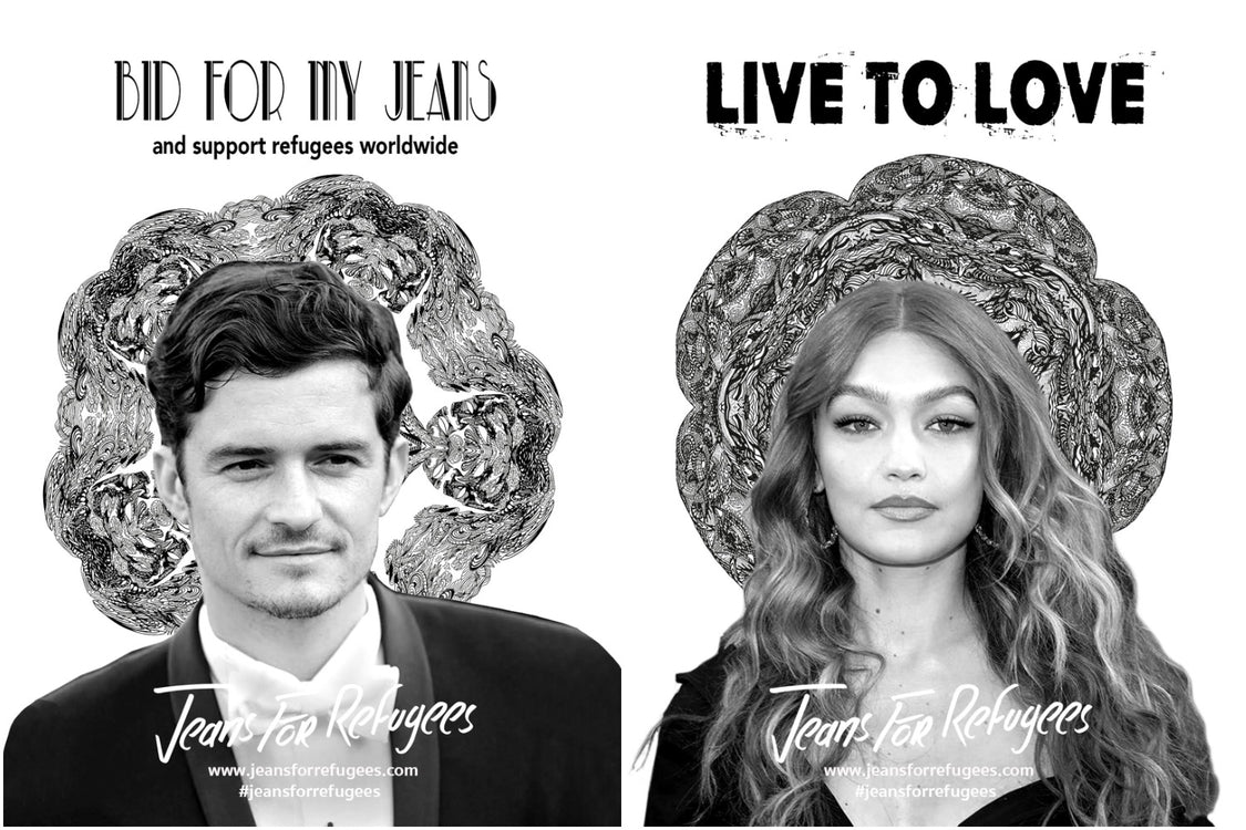 Gigi Hadid and Orlando Bloom join Jeans For Refugees