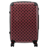 Large suitcase with Dardelica print design