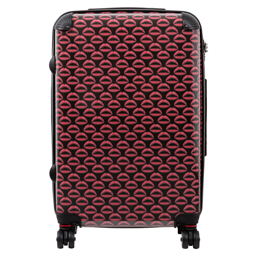 Medium suitcase with Dardelica print design
