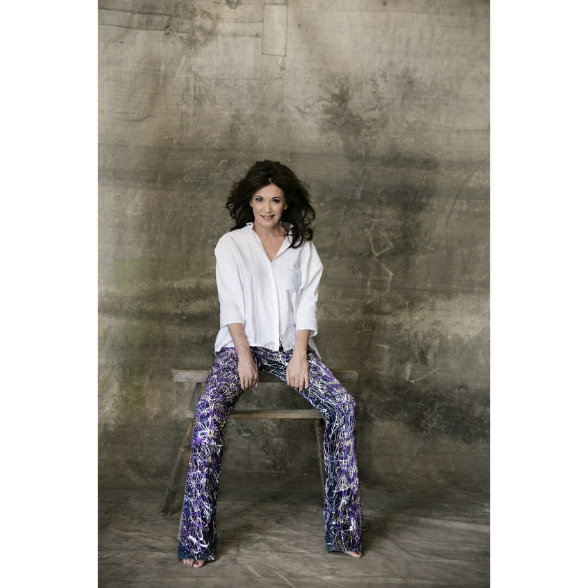 Iris Berben in her Jeans For Refugees