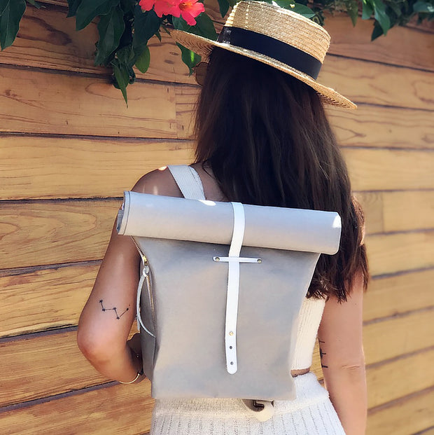 Mini Backpack With Reclaimed Leather Closer