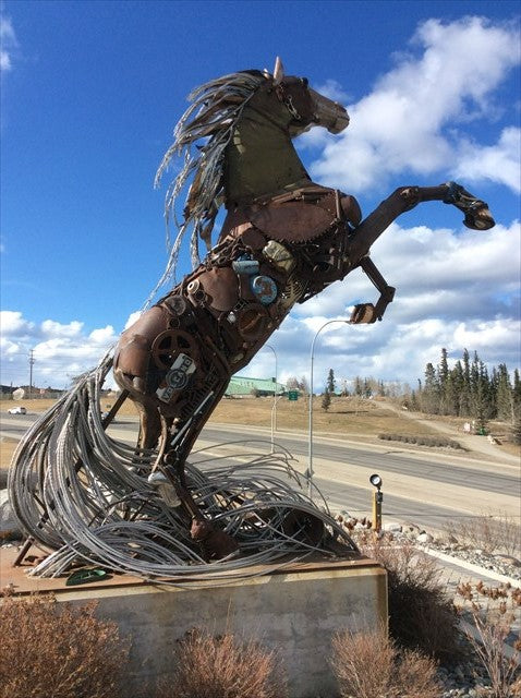Travelling Spirit Piece at the Great White Horse Monument in Yukon, Canada