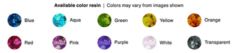 Color chart for cremation jewelry