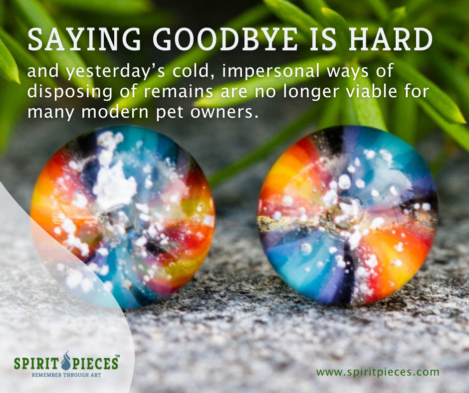 Tie Dye Stud Earrings with Cremation Ash