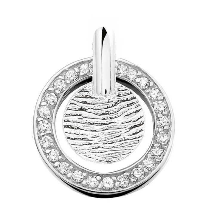 Silver pendant with fingerprint