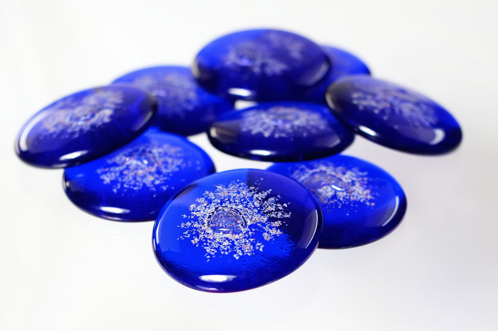 Cobalt Blue Sharing Stones with Cremation Ash