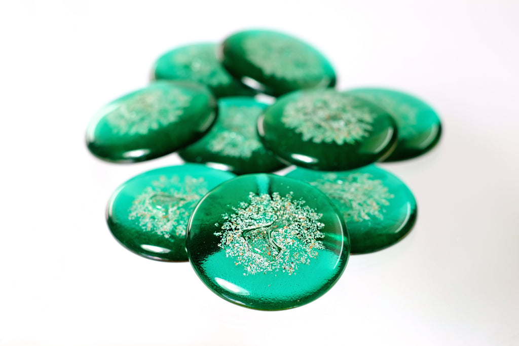 Emerald Green Sharing Stones with Cremation Ash