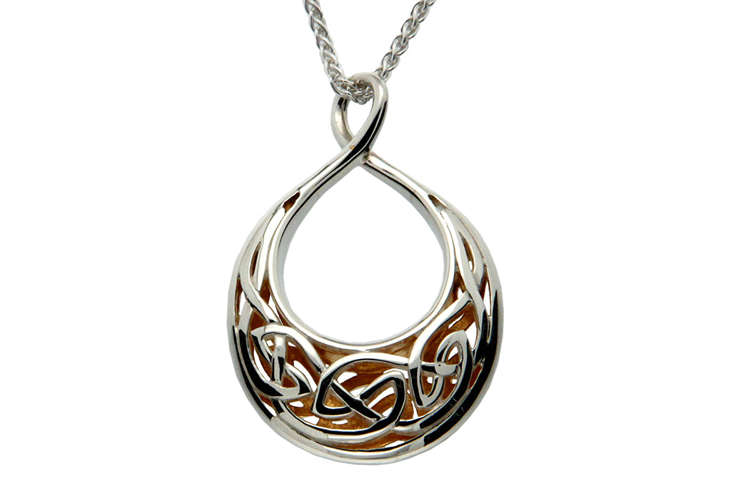 Crescent Window to the Soul Memorial Necklace